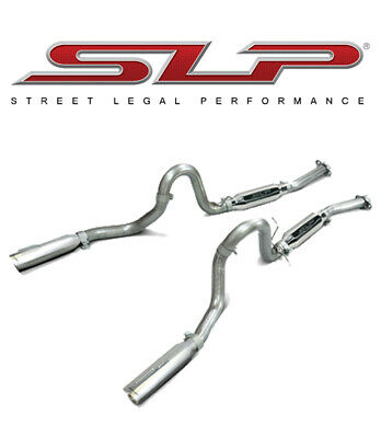 1999 2004 mustang gt mach 1 loudmouth cat back exhaust system slp m31007 ebay