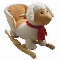 Plush Sheep Baby Rocking Chair Kids Toy Ride Rocker Plush ...
