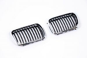 Chrome Kidney grill set for BMW E36 Late model 316 318 320