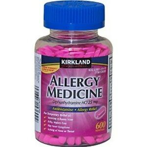 Kirkland Allergy Medicine Diphenhydramine HCL 25mg 600 ...