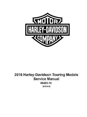 2016 Harley Davidson Road King FLHR FLHRC Service Manual
