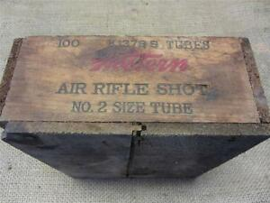 Vintage Wooden Western Air Rifle Shot Ammo Box Crate
