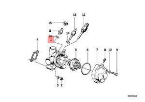 Genuine BMW E28 E30 E34 Z1 Cooling System Thermostat