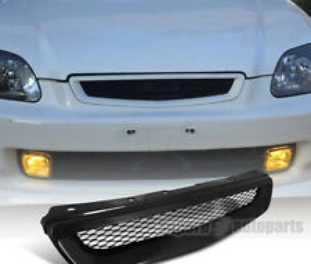 For 1996 1998 Honda Civic Honeycomb Type Grill Hood Mesh Grille R Black