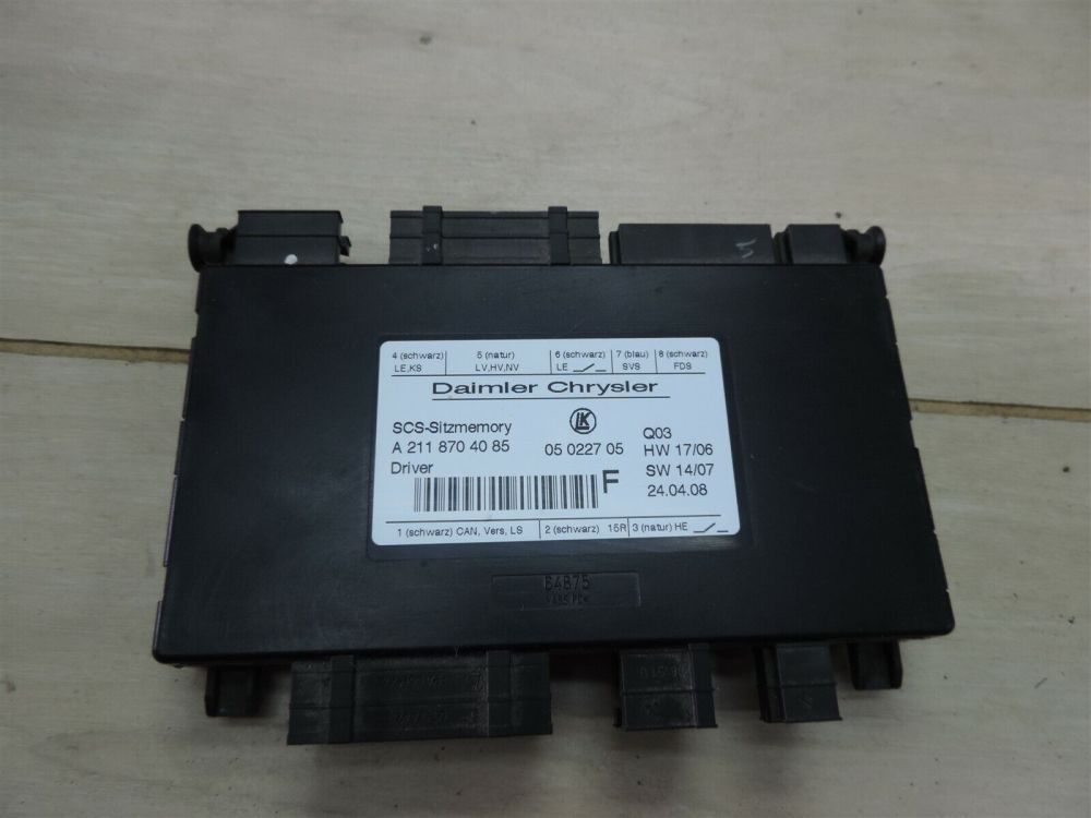 medium resolution of w211 07 09 mercedes benz e350 oem driver seat control module a2118704085 for sale online ebay