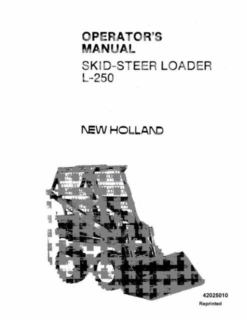 Holland L250 Skid Steer Loader Operators Manual for sale