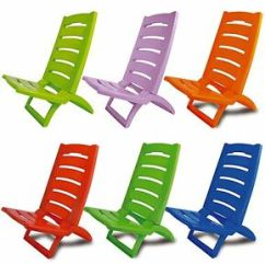 Folding Low Beach Chair Ikea Lycksele Bed Plastic Portable Chairs Coloured Garden Picnic