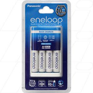 Panasonic ENELOOP 4 AA/AAA cell Basic Battery Charger including 4 x AA batteries   eBay