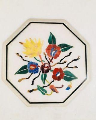 12 Marble Corner Table Top Semi Precious Stone Craft Work Floral Inlay Work Ebay