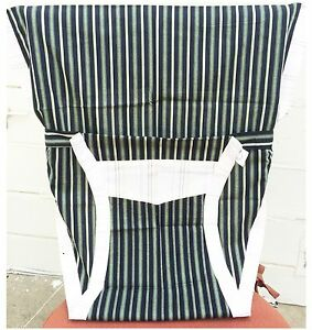 blue and white striped chair ebay accent chairs new portable baby high harness stripes image is loading