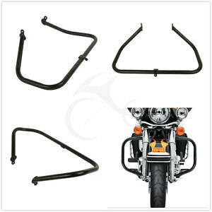 Black Engine Guard Crash Bar For Harley HD Touring FLHT