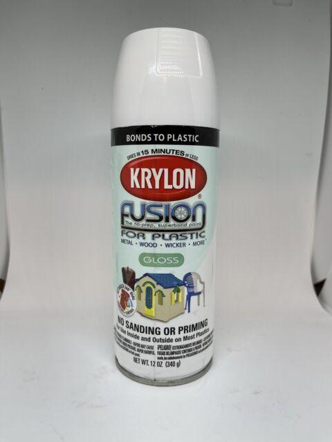 case 6 12oz krylon ko2320 gloss white fusion quality plastic spray paint