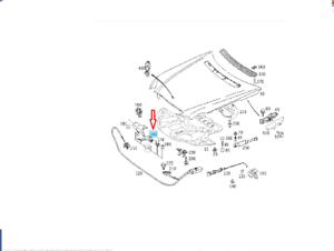 Genuine OEM Mercedes Benz E Class W211 Hood Release Handle