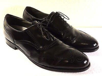 Vintage Dexter men's Black Leather Wing Tip Dress Shoes Size US 14 M Made in USA | eBay