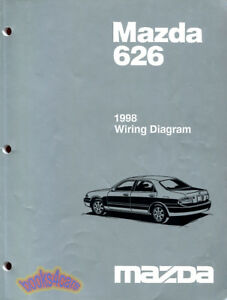MAZDA 626 SHOP MANUAL SERVICE REPAIR BOOK 1998 ELECTRICAL WIRING DIAGRAM | eBay