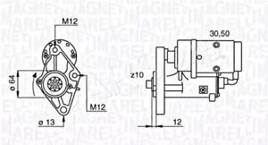 Magneti Marelli Starter Motor Fits HYUNDAI Terracan 2.9L