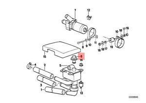Genuine BMW E24 E28 E32 E34 Mono Valve Heater Solenoid