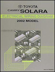2002 Toyota Camry Solara Electrical Wiring Diagram Manual
