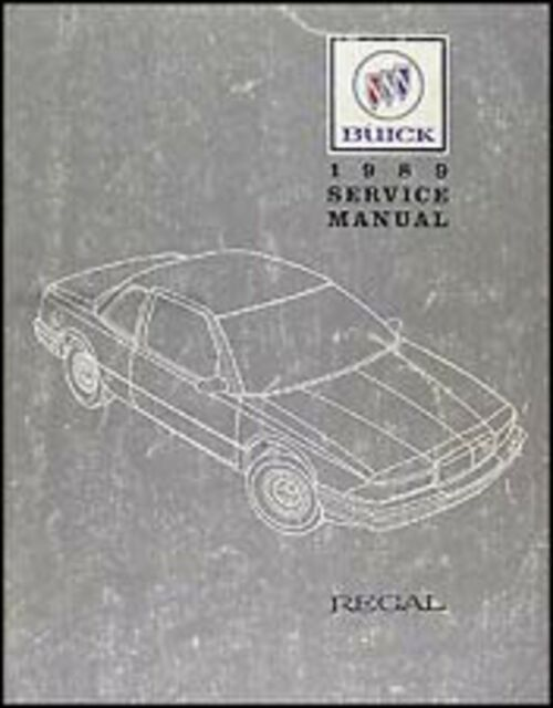 1989 Buick Regal Shop Service Repair Manual Book Engine
