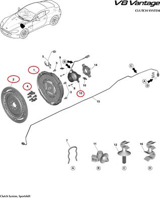 Aston Martin V8 Vantage Engine Clutch Kit (6 or 7-Speed
