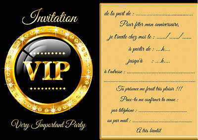 5 12 or 14 birthday invitation cards vip ref 460 ebay