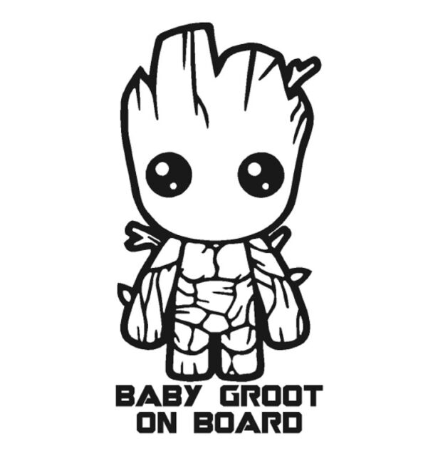 Groot Guardians Of The Galaxy Vinyl Decal