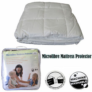 Image Is Loading Clearance Quality Cotton Cover Microfiber Mattress Protector Single