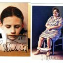 RARE Gottfried Helnwein – original autographs – bothsigned Austria art with COA