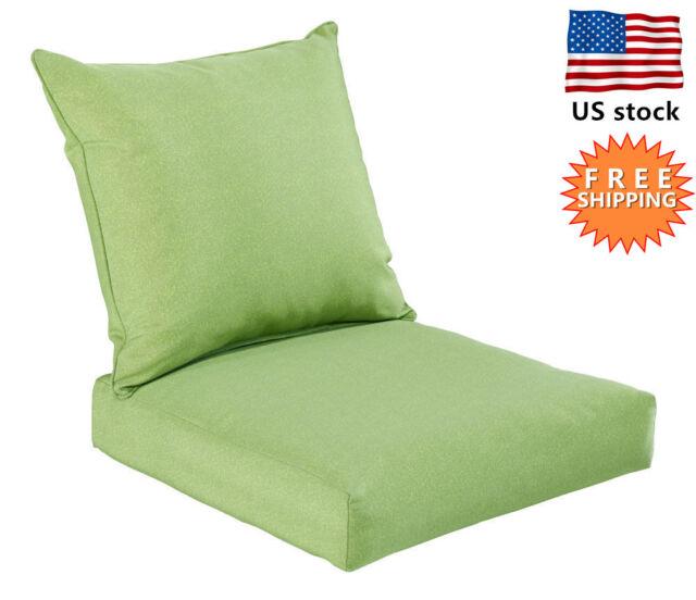 patio high back chair cushions office chairs walmart bossima outdoor deep seat cushion pad set dining green
