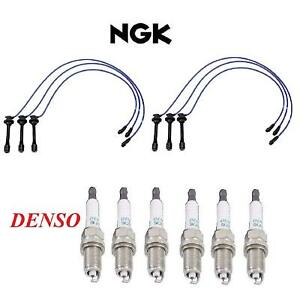 Tune Up Kit Spark Plug Wire Set & Plugs FIT Toyota Camry