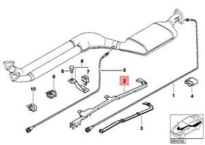 Genuine BMW E36 Cabrio Catalytic Converter Lower Guide