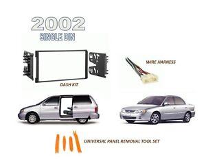 Fits 2002 KIA Sedona, Spectra Single Din Car Stereo Dash