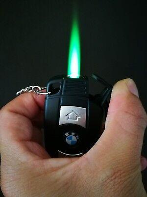butane lighter green flame
