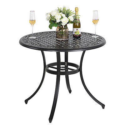 36 inch cast aluminum outdoor patio round dining bistro table conversation table 663274444965 ebay