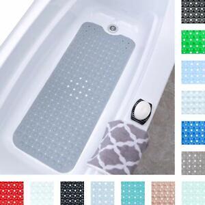 details sur tapis de bain antiderapant pour baignoires et douches extra long 40 x 99 cm