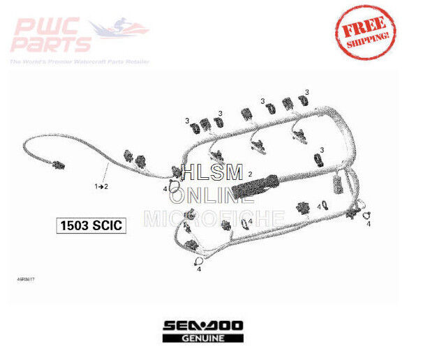 SEADOO BRP OEM Engine Wiring Harness 2006-2011 RXP-X GTI
