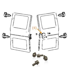 FJ40 79+ Ambulance Door Paddle Handle Stainless Screw Kit