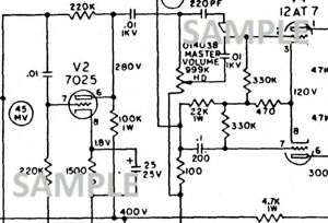 Fender Bassmen 70 Tube Guitar Amplifier Schematic Diagram