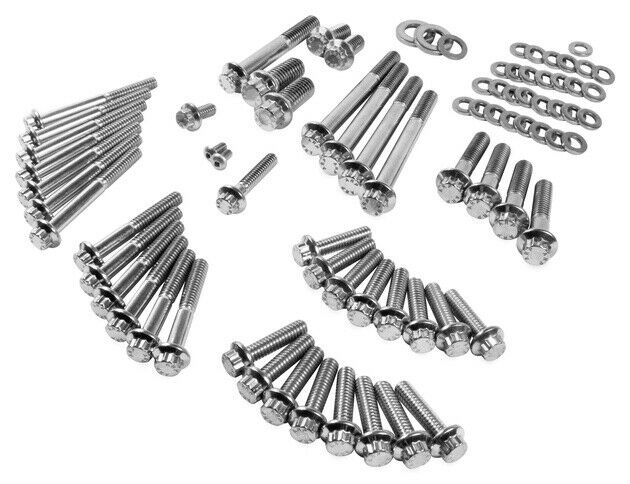 Feuling Engine Case 12-Point Stainless Steel Bolt Kit
