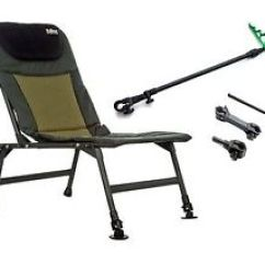 Fishing Chair With Arms Papasan Covers Sale Diem Folding Lightweight Carp Feeder Arm Image Is Loading