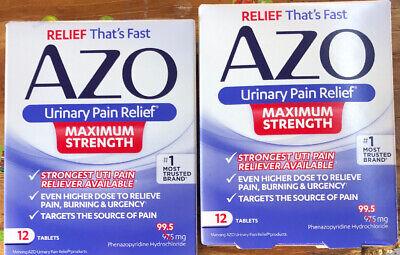AZO Urinary Pain Relief Tablets Maximum Strength 12 ...