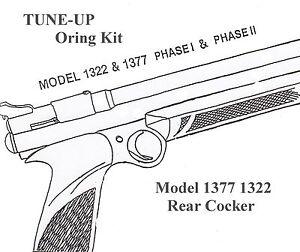 TUNE-UP O-RING SEAL KIT for Crosman 1377 1322 Model Rear