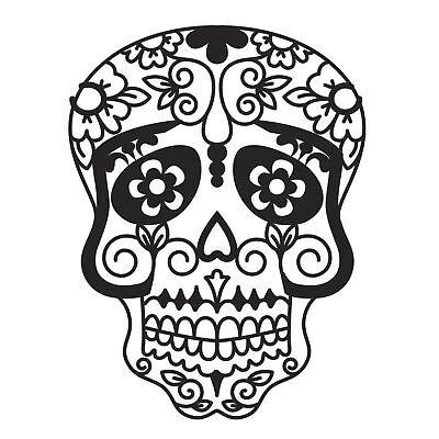 Darice Sugar Skull Metal Craft Die Halloween Day of the