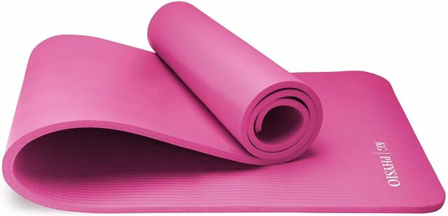 tapis yoga antiderapant avec sangle transport caoutchouc nitrile epais 12 mm