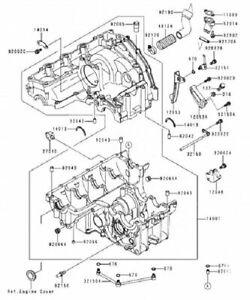 KAWASAKI ZX-9R ZX 900 NINJA 1994-1997 Crankcase stainless
