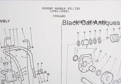 Canadiana Snowblower Illustr Parts List 1981-1982 Export
