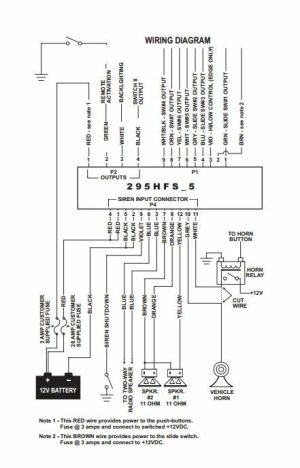 Whelen 295hfsa5 Wiring Diagram | Online Wiring Diagram