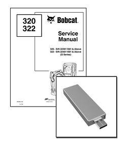 Bobcat 320 322 G-Series Workshop Service Repair Manual USB