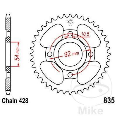 JT Rear Sprocket 49T 428P JTR835.49 Steel Yamaha SR 125