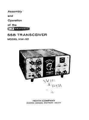 Assembly & operación manual-instrucciones para Heathkit hw